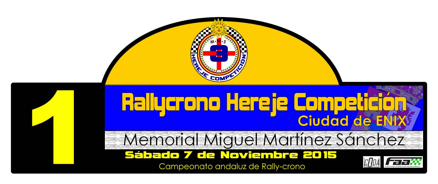 Rallycrono Hereje Competicion Ciudad de Enix