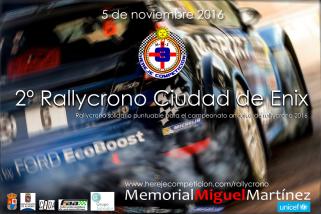 Carta presentación 2º Rallycrono Ciudad de Enix – Memorial Miguel Martínez