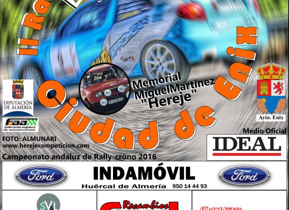 INSCRIPCION RALLYCRONO INDAMOVIL CIUDAD DE ENIX