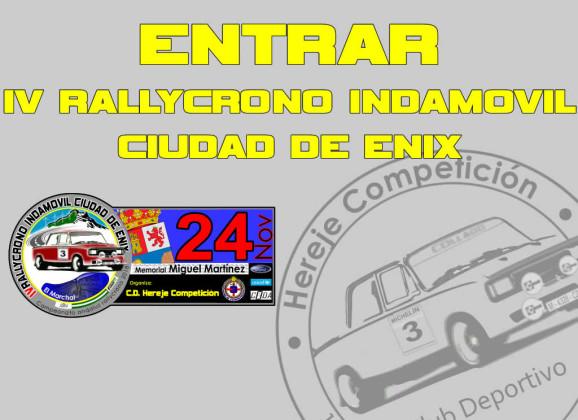 Página Oficial 4º Rallycrono INDAMOVIL Ciudad de Enix