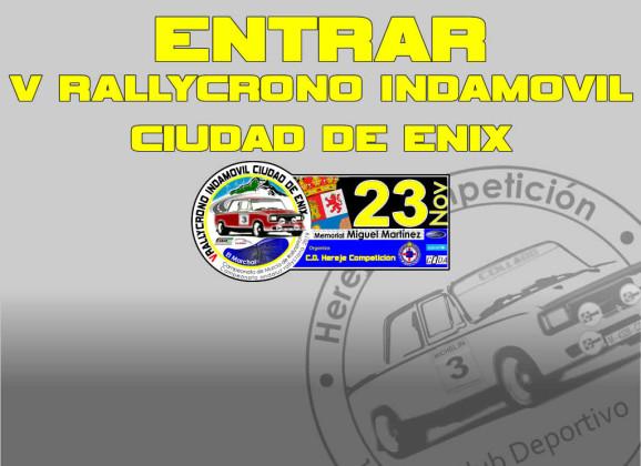 Página Oficial 5º Rallycrono INDAMOVIL Ciudad de Enix