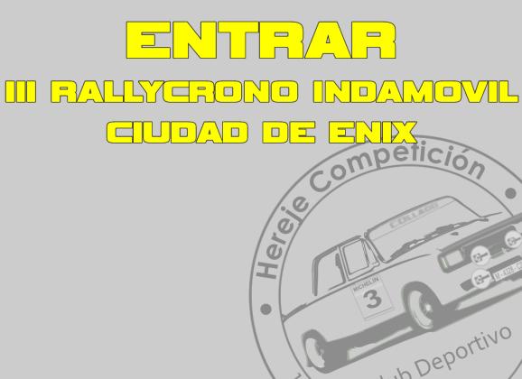 Página Oficial 3er Rallycrono INDAMOVIL Ciudad de Enix